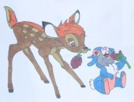 Bambi and Thumper by SailorDerp