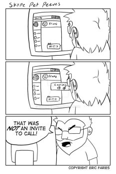 Mini Comic - Skype Pet Peeves by EricRonin
