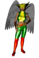 HawkGirl by Stone3D