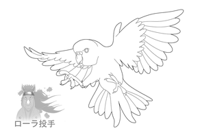 Budgie Line Art 3 by purapuss