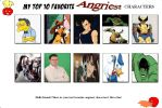 Jefimus top 10 favorite angriest characters by JefimusPrime