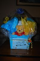 Baby Shower Pooh Craft by Wakeuphatesgirl