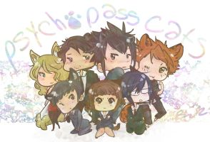Psycho Pass Cats by Bleach-Red-Abyss3