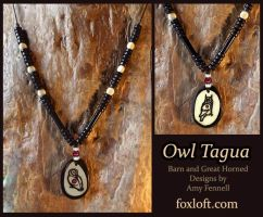 Owl Totem Tagua Pendants by Foxfeather248