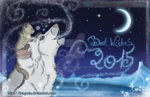 Best Wishes - Card 2015 by Lougaria
