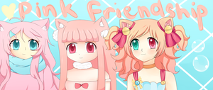 Pinku Pink Friends :CE: by StardustMelodii