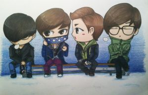 EXO Chibis1 by chaixing