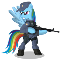 Rainbow Dash EQPD SWAT by DolphinFox