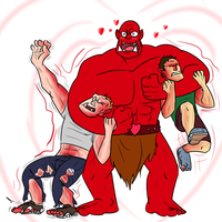 LOVE ORC HUGGLES by Fighting-Wolf-Fist