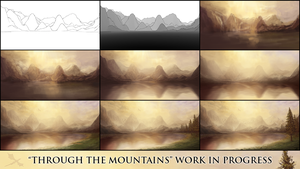 Through the Mountains WIP by artbypaulfisher