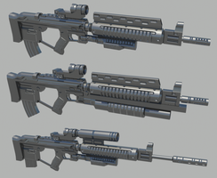 Killzone M82 Rifle WIP by thefirewarriors