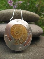 Ammonite Fossil Pendant by evencowgirls
