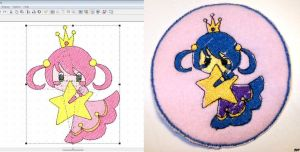 Embroidery Patch: Star Princess by Yarn-and-Ink
