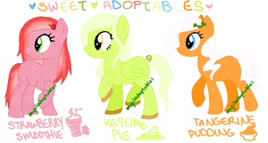 MLP- Sweets Adoptables #1-3 - CLOSED by MyLilAdoptables