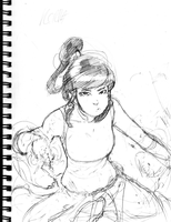 Avatar Korra - Sketch by Quick-Strike