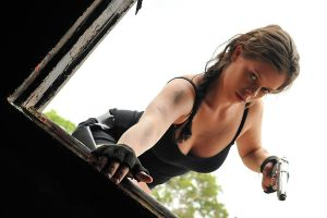 Stacey - Lara at window 1 by wildplaces