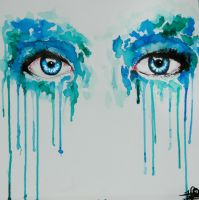 Watercolor eyes-anemone by Bealx