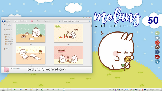 Wallpapers Molang  by iTutosCreativeRawr