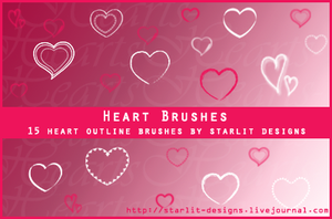 Heart Brushes Set 2 by mystique87