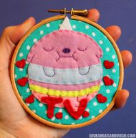T.V. Hoop by loveandasandwich