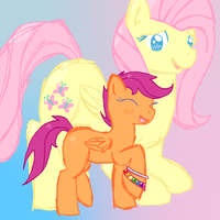 FlutterShy and Scootaloo by FlutterGore
