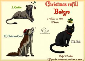 Christmas refill badges - Closed by NaokoHara