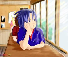 :: Sasuke-kun at School :: by Melina-selon-Ally