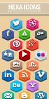 Hexa Icons - Flat Social Icon Set by yahya12