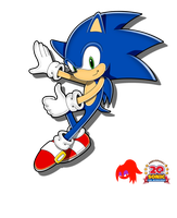 20th Anniversary Sonic by MollzyStJimmy