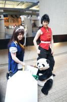 YoumaCon 2012 - Ukyou Ranma and Genma by MiaHinano
