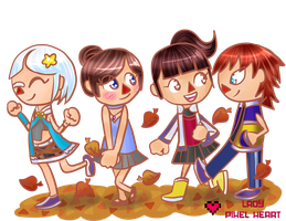 ACNL Group Commission for Hylee by ladypixelheart
