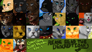 xx Warrior Cat Icon Pack No. 1 by xxMoonwish