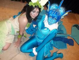 NDK 2011 Leafeon and Vaporeon by IlSanguinitylI
