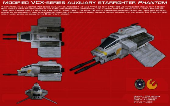 VCX-series auxiliary starfighter Phantom ortho [1] by unusualsuspex
