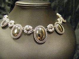 Persian byzantine necklace hematite by BacktoEarthCreations