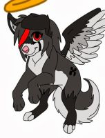 Angelic the wolfdog as a puppy by zoe123hedgefox