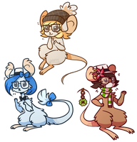 Three Mice-keteers by Whippe