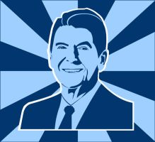 Ronald Reagan by gogozombie