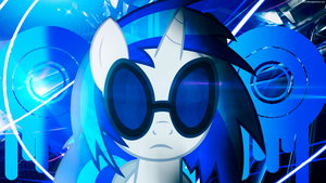 Vinyl Scratch Wallpaper by DigiRadiance
