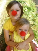 Two funny little clowns by What-is-worth