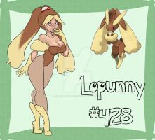 Lopunny Pinup II by FlavorlessMuffin