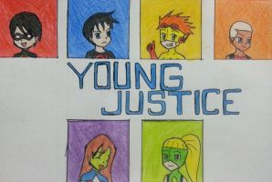Young justice! by Randompikaturtle