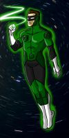 Green Lantern Redesign by toekneearrows