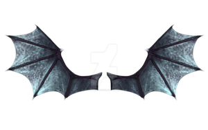 Blue Demon Wings by CelticStrm-Stock by CelticStrm-Stock