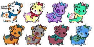 8 Puppy Adopts NAME YOUR PRICE!!~OPEN~ by CitrusBreeze