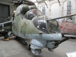 Soviet helicopter Mi24 by Fruit-Sauvage