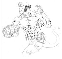 Hellboy april7th2014 by SpiderGuile