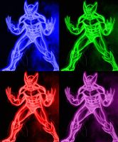 wolverine neon commission by AlanSchell