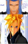 Saix vs Cloud VII by Hatredboy