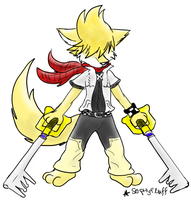Red Scarf Roxas by Sephyfluff